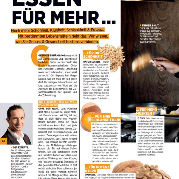 Bild zum Eintrag: Christian Putscher im MAN-Magazin - »Essen für mehr...«